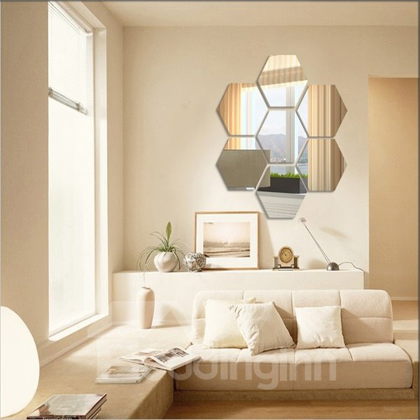 Modern Shining Pentagon Decorative Wall Stickers