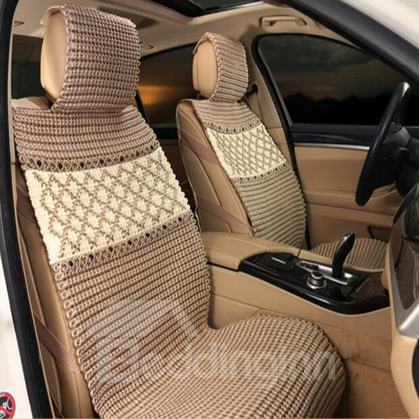 Master Of Hand-Woven Environment Ice Silk Material Car Seat Cover