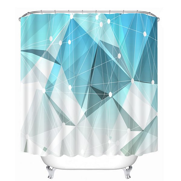 Irregular Geometry Print 3D Bathroom Shower Curtain