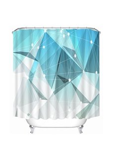 Irregular Geometry Print 3D Bathroom Shower Curtain