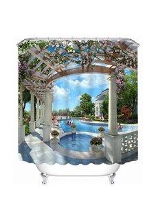Luxurious Swimming Pool Print 3D Bathroom Shower Curtain