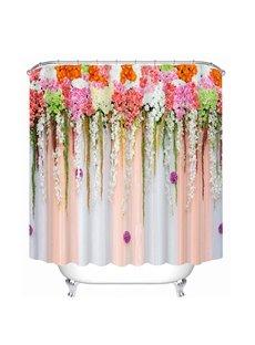 Intelligent Design Flowers Print 3D Bathroom Shower Curtain