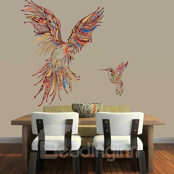 Modern Design Colorful Eagle and Bird Pattern Wall Stickers