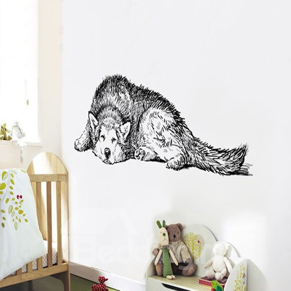 Decorative Cute Dog Pattern Wall Stickers