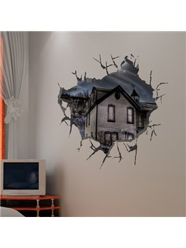 Creative Broken Hole House Pattern 3D Wall Stickers