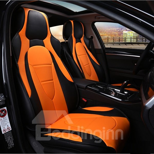 Charming Yellow And Brown Color Sport Universal Car Seat
