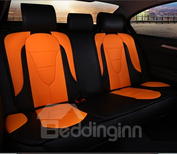 Charming Yellow And Brown Color Sport Car Seat Cover