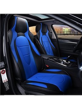 Futuristic Blue Themed Streamline Design Universal Car Seat Covers
