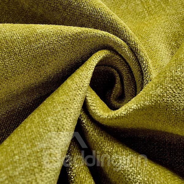 Pure Colored Chenille Shading Cloth Grommet Top Blackout Curtain Panel