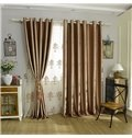 Pure Color Double-Sided Velvet Shading Cloth Grommet Top Blackout Curtain Panel