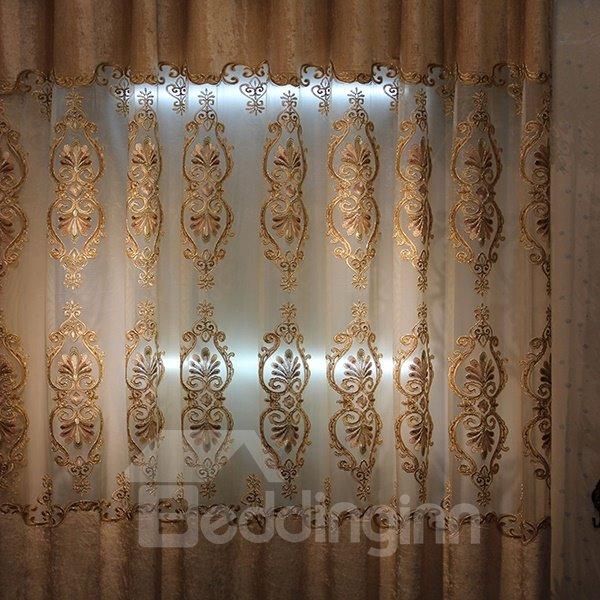 European Style Luxury Guipure Grommet Top Curtain Panel