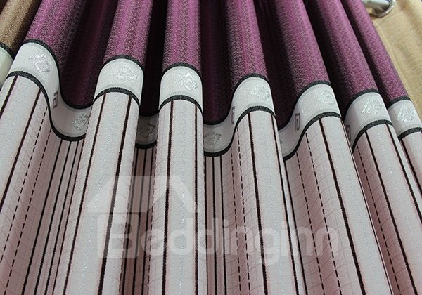 High-Quality Jacquard Stripe Grommet Top Curtain Panel