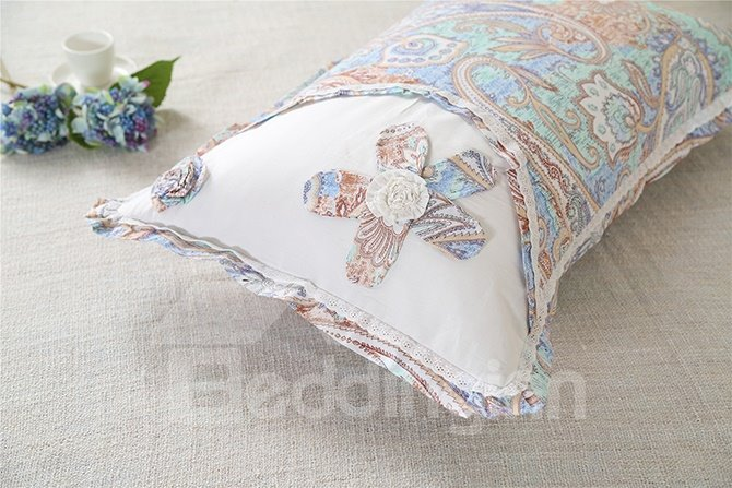 New Arrival Stunning Hand-Appliqued 4-Piece Cotton Duvet Cover Sets