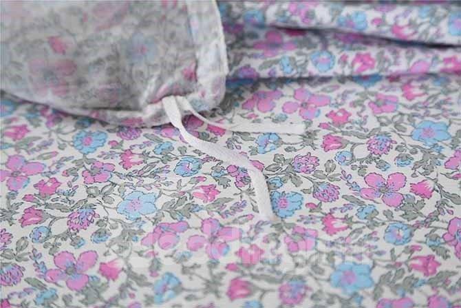 High Quality Cozy Hand-Appliqued 4-Piece Cotton Duvet Cover Sets