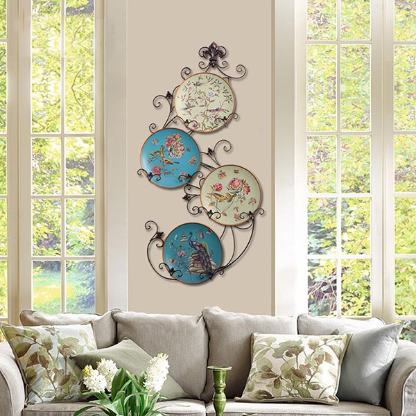 Beautiful Countryside Style Ceramic Flower and Bird Wall Decoration