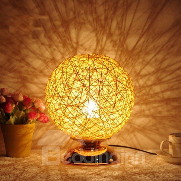 Creative Iron Round Fashion Table LED Night Light