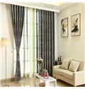 Wool Spinning Thicker Pure Colored Grommet Top Curtain Panel