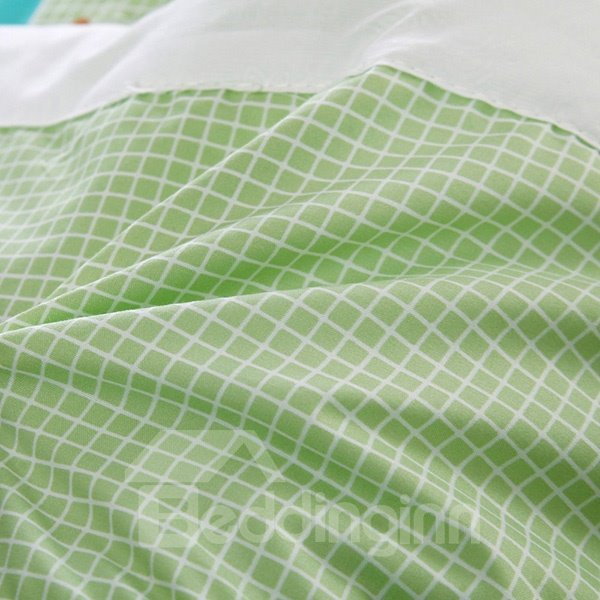 Sweet Colorful Triangles Fresh Green Polyester Quilt