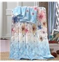 Vivid Colorful Flowers Reactive Printing Polyester Quilt