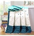 Popular Polka Dot and Flower Print Polyester Quilt