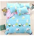 Adorable Cotton Print Sky Blue Polyester Quilt