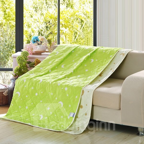 Fresh Style Exquisite Green Polyester Summer Quilt