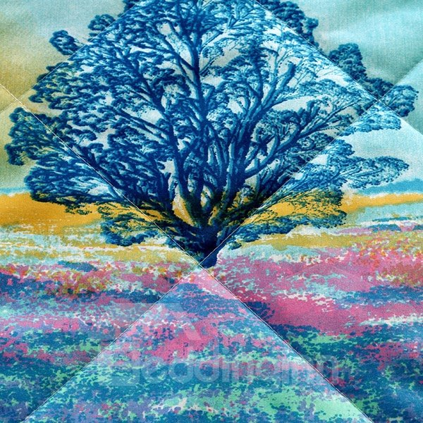 New Arrival Dreamy Lavender Polyester Summer Quilt