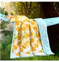 Pretty Comfy Tempting Tangerine Print Polyester Summer Quilt