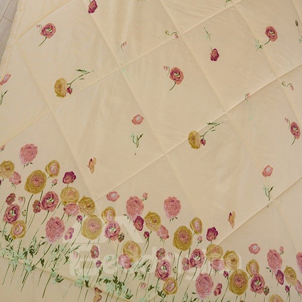 New Arrival Fabulous Floret Print Polyester Summer Quilt