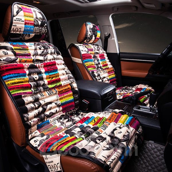 67 Colorful Graffiti Art Style Most Popular Universal Five Car Seat Cover