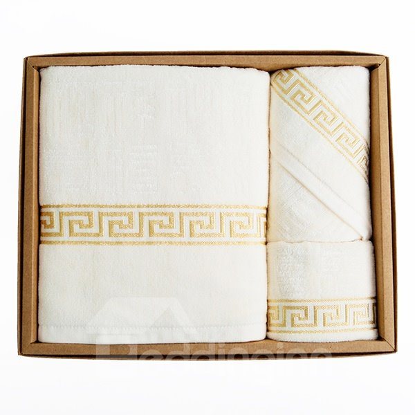 High-Quality Chinese Wishes Words Bath Towels Set