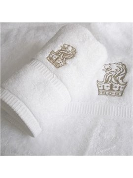 Lion Pattern 100% Cotton Bath Towels Set