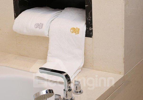 Lion Pattern 100% Cotton Bath Towels Set