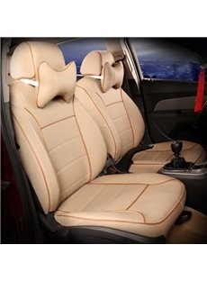 Pure Color Classic Style Durable Universal Leather Car Seat Cover