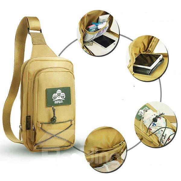 5L Lightweight Bag Shoulder Sling Unbalance Backpack Outdoor Day pack