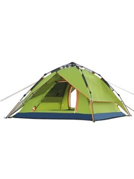 3-4 Person Outdoor Double Layers Tent with Rainfly Automatic Instant Camping and Hiking Tent