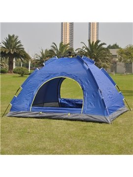 3-4 Person Single Layer Fiberglass Skeleton Windproof Camping and Hiking Tent