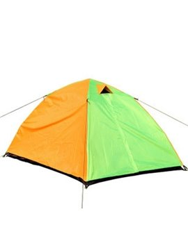 2 Person Contrast Color Instant Lightweight Fiberglass Skeleton Camping and Hiking Tent