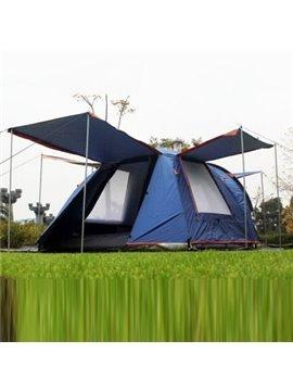3-4 Person Outdoor One Bedroom Waterproof Fiberglass Skeleton Instant Double Layers Camping Tent