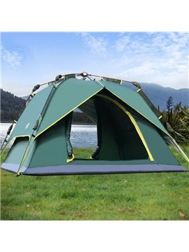 3-4 Person One Bedroom Double Layers Outdoor Waterproof Hiking and Camping Tent