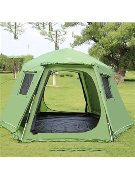 6-8 Person Automatic Double Layers Aluminum Skeleton Instant Camping and Hiking Tent