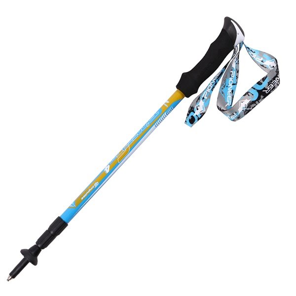 Bright Color Durable Trekking Hiking Stick Pole Triarticular Alpenstock