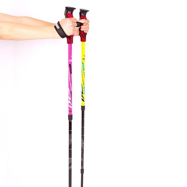 Lightweight EVA Hand Shank Hiking Trekking Triarticular Adjustable Alpenstock