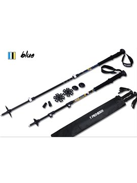 Trekking Hiking Stick Pole Detachable Adjustable Telescoping Alpenstock