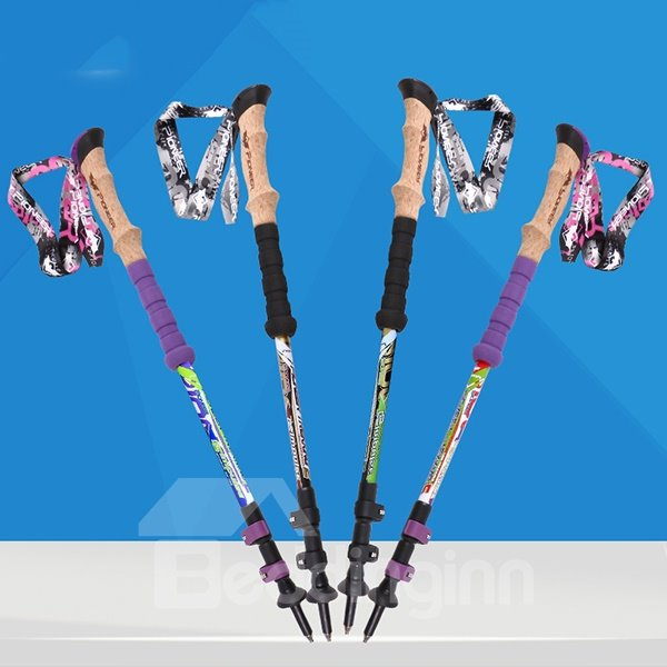 Durable Triarticular Carbon Fiber Trekking Hiking Alpenstock