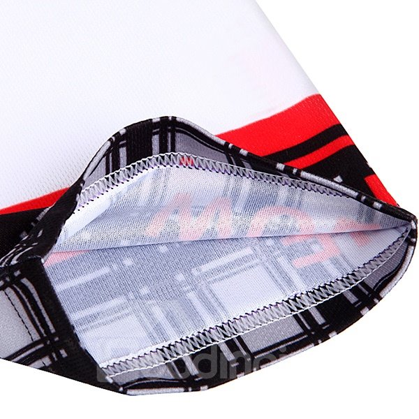 Mens Black and White 3D Padded Shorts Grid Pattern Outfit Cycling Clothing