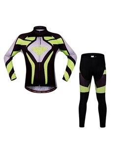 Men's Bicycle Long Sleeve Jersey with Reflective Stripe Cycling Clothing