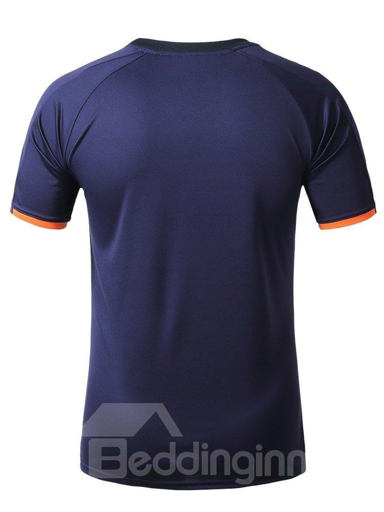 Orange Blocks Short Sleeve Cycling Jersey Quick Drying Shirt