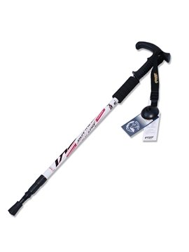 Flared Handle Trekking Hiking Adjustable Triarticular Aluminium Alloy Alpenstock