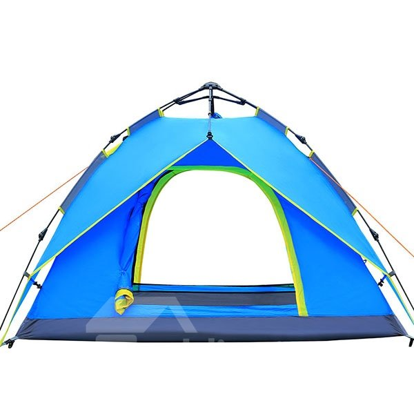 3-4 Person Double Layers Hydraulic Automatic Skeleton Outdoor Camping Tent